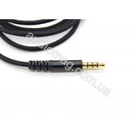Съемный аудио кабель 3.5 х 3.5мм с микрофоном в нейлоновой оплетке