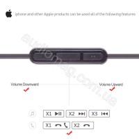 Аудио кабель для наушников Bose On-Ear 2 OE2 OE2i с микрофоном и пультом управления