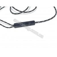 Универсальный OFC провод с микрофоном, в нейлоновой оплетке