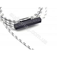 Провод для наушников в нейлоновой оплетке c микрофоном Talk Control White